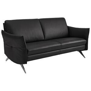 Himolla Komfortklass Zweisitzer-sofa echtleder schwarz , 6902 -Exclusiv- , Leder , 2-Sitzer , 154x86x92 cm , gebürstet,pigmentiert , Lederauswahl, Stoffauswahl, Sitzqualitäten, Hocker erhältlich,