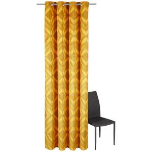 Esposa Ösenschal halbtransparent 135/245 cm , IL Punto , Goldfarben , Textil , Raute , 135x245 cm , Samt , 003115003601