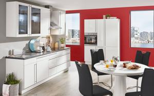 Nobilia - Marken-Einbauküche Flash in weiß