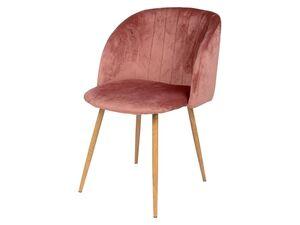 LIVARNO LIVING® Sessel, weicher Samtbezug, Metallbeine in Holz-Optik, 50 cm Sitzhöhe
