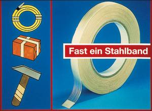 Klebeband 2er Pack, Filamentband glasfaserverstärkt, 100 m Westfalia