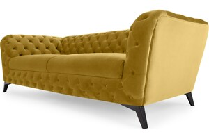 Sloan 3-Sitzer Sofa, Samt in Antikgold - MADE.com