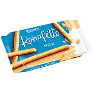 """Waffelröllchen """"Konafetto"""" mit einer Cremefüllung mit Milchg..."""