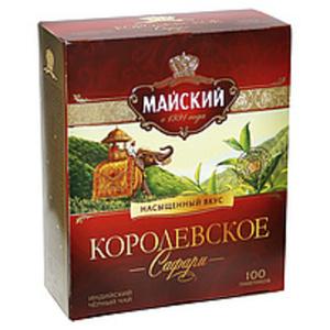 """Schwarzer indischer Tee """"Korolewskoje Safari"""" 100Btl."""