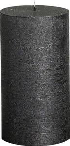 Bolsius Rustik Stumpenkerze Metallic ,  anthrazit, Höhe: 13 cm, Ø 6,8 cm