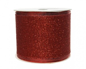 Kaemingk Band Glitter ,  rot, 270 x 6.3 cm