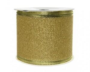 Kaemingk Band Glitter ,  hellgold, 270 x 6.3 cm