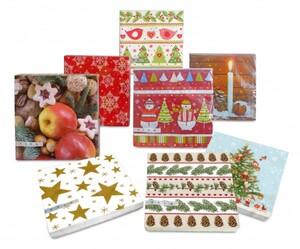 Braun + Company Servietten Weihnachten ,  33 x 33 cm , 20 er Pack