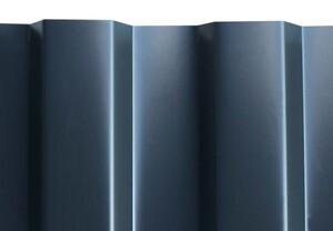 SKAN HOLZ Carport Wendland 409 x 870 cm mit Abstellraum, mit Aluminiumdach, rote Blende, schiefergrau