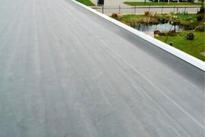 SKAN HOLZ Carport Spreewald 396 x 741 cm mit EPDM-Dach, schwarze Blende, nussbaum