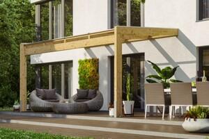 SKAN HOLZ Terrassenüberdachung Novara Größe 450 x 259 cm, unbehandelt