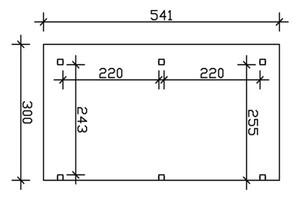 SKAN HOLZ Terrassenüberdachung Siena Größe 541 x 300 cm, lasiert in nussbaum