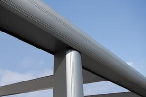 SKAN HOLZ Terrassenüberdachung Monza Größe 541 x 257 cm, Strukturpulverbeschichtet in anthrazit DB703