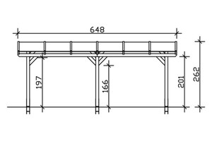 SKAN HOLZ Terrassenüberdachung Siena Größe 648 x 300 cm, lasiert in weiß