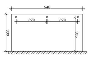 SKAN HOLZ Terrassenüberdachung Venezia Größe 648 x 339 cm, lasiert in schiefergrau