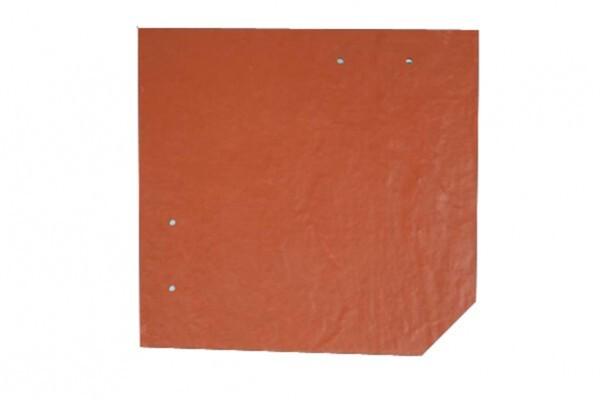 SKAN HOLZ Carport Spreewald 585 x 589 cm mit Aluminiumdach, rote Blende, nussbaum