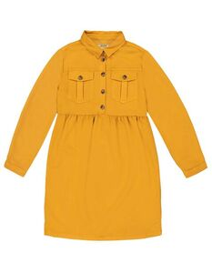 Mädchen Kleid mit Knopfleiste