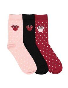 Damen Mickey Mouse-Socken im 3er-Pack