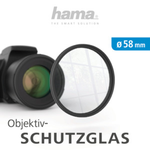 HAMA 58 mm Objektiv Schutzglas, Ø 58 mm