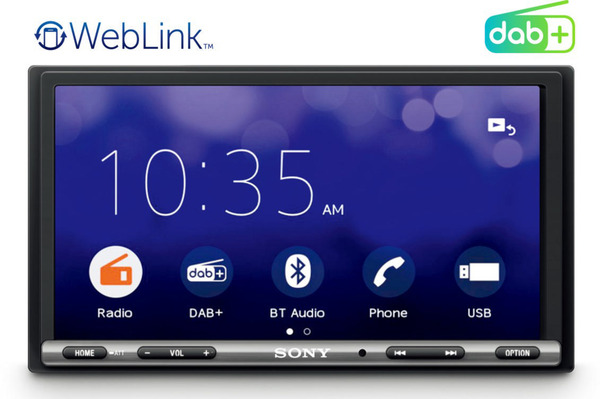 "SONY XAV-3550ANT 7"" Display, WebLink 2.0, DAB+ Tuner, Touchscreen, DAB+ Antenne Autoradio"