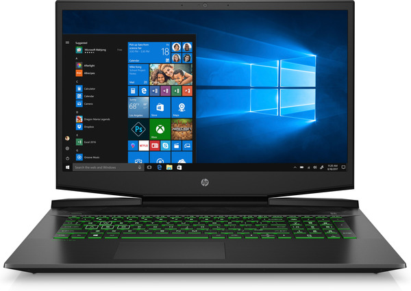 HP Pavilion 17-cd0231ng, Gaming Notebook mit 17.3 Zoll Display, Core™ i7 Prozessor, 16 GB RAM, 1 TB SSD, GeForce GTX 1660 Ti Max-Q, Schwarz/Chrom/Grün