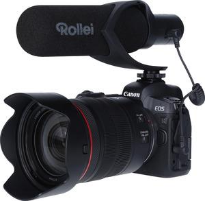 ROLLEI Hear:Me Pro Mikrofon Mikrofon mit Hypernierencharakteristik (Shotgun), Schwarz