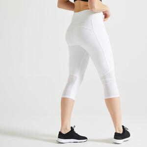 3/4-Leggings FCA 120 Fitness Cardio Damen weiss