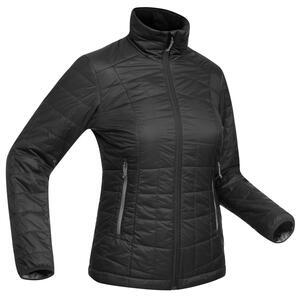 Wattierte Jacke Trekkingjacke Trek 100 Damen schwarz