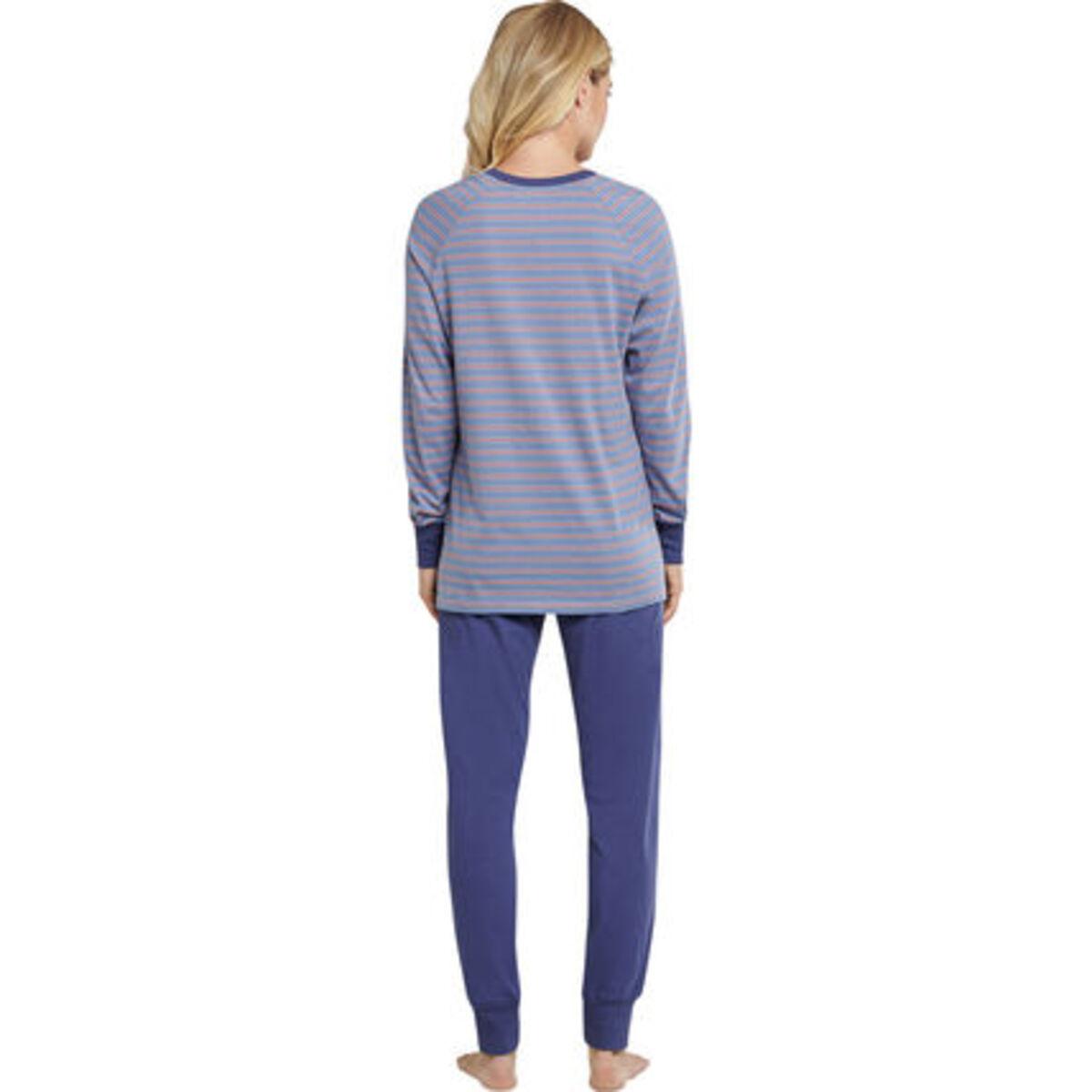 Bild 2 von Schiesser Schlafanzug, lang, Ringelmuster, Rippbündchen, für Damen