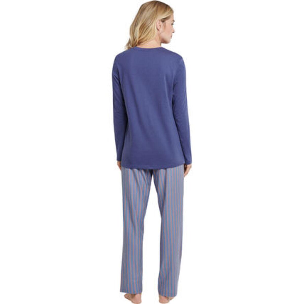Bild 2 von Schiesser Schlafanzug, lang, Knopfleiste, für Damen