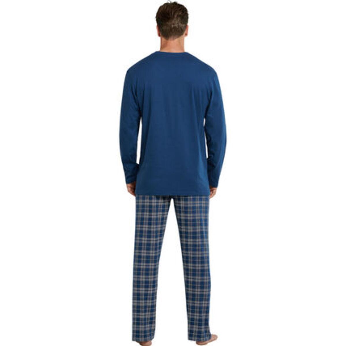 Bild 2 von Schiesser Schlafanzug, lang, Karohose, Baumwolle, für Herren