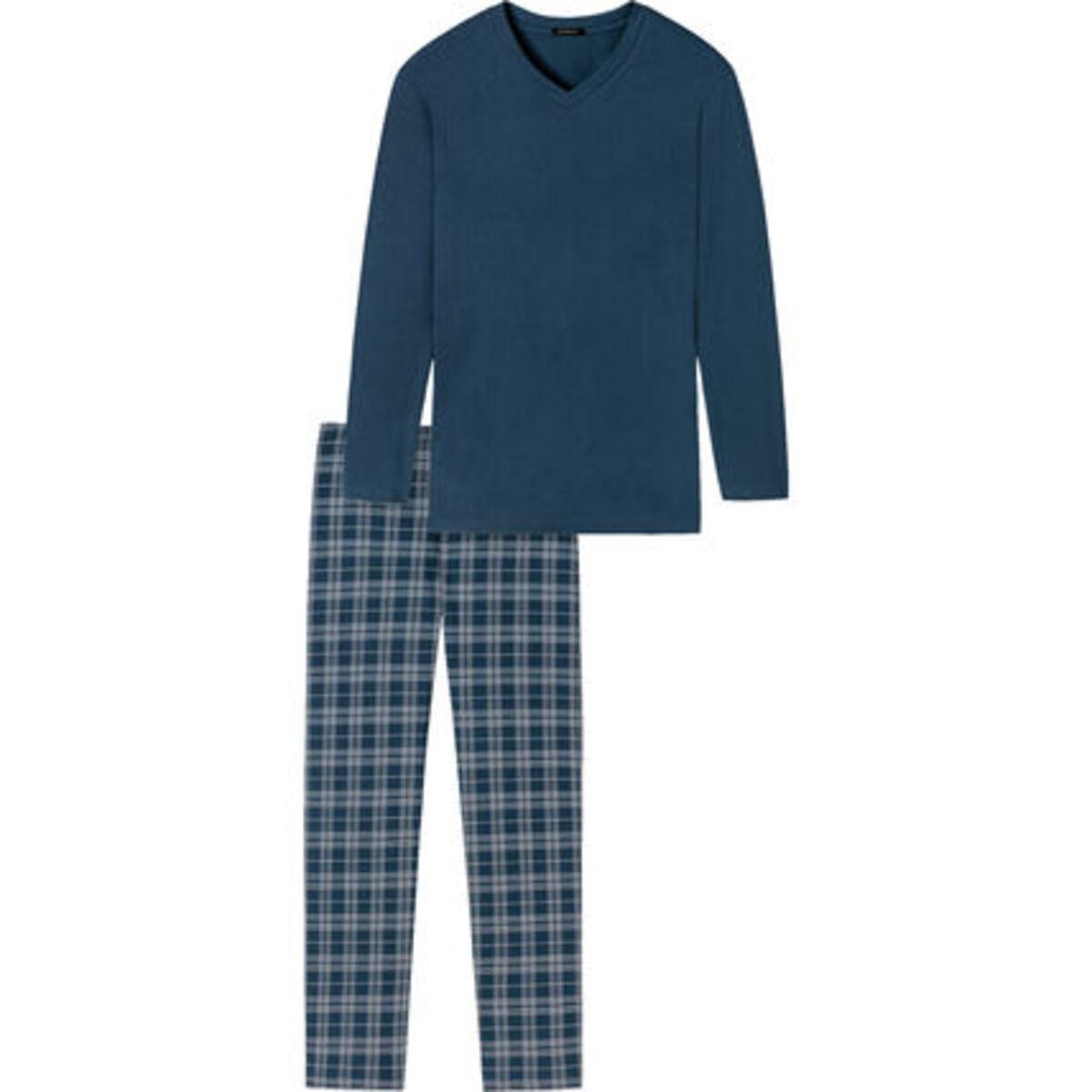 Bild 3 von Schiesser Schlafanzug, lang, Karohose, Baumwolle, für Herren