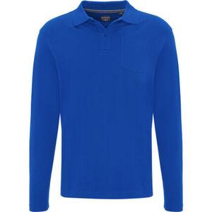 Dunmore Poloshirt, Langarm, Baumwolle, uni, für Herren