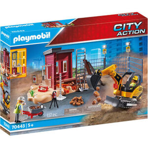 PLAYMOBIL® City Action - Minibagger mit Bauteil 70443