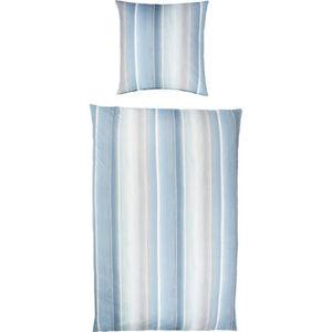 """Estella Jersey-Bettwäsche """"Streifen"""", blau"""