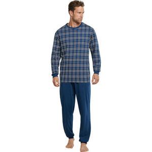Schiesser Schlafanzug, Karo-Shirt, Baumwolle, für Herren