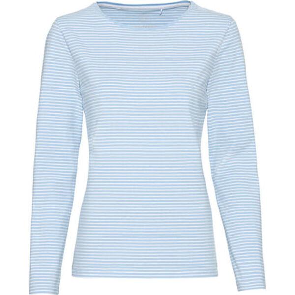 MANGUUN Shirt, Langarm, Streifen-Muster, für Damen