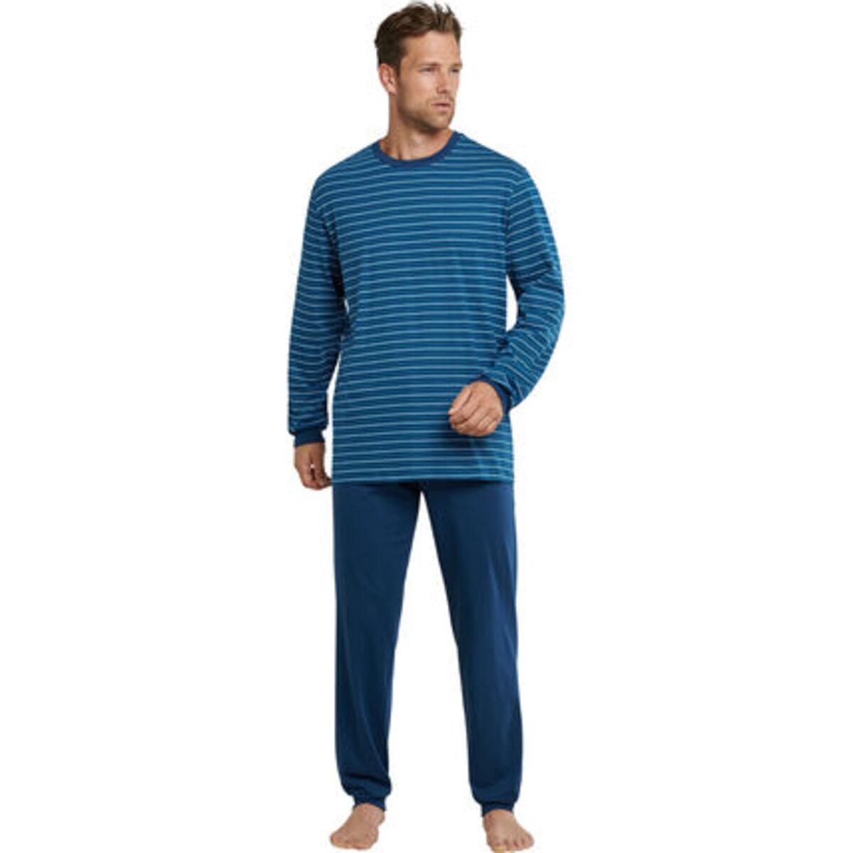 Bild 1 von Schiesser Schlafanzug, Ringelshirt, Baumwolle, für Herren