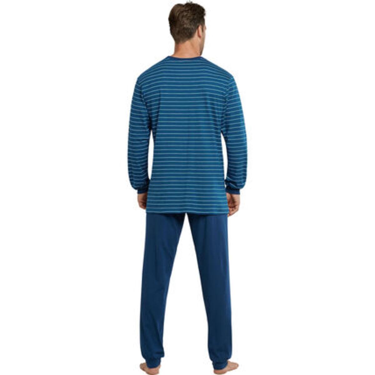 Bild 2 von Schiesser Schlafanzug, Ringelshirt, Baumwolle, für Herren