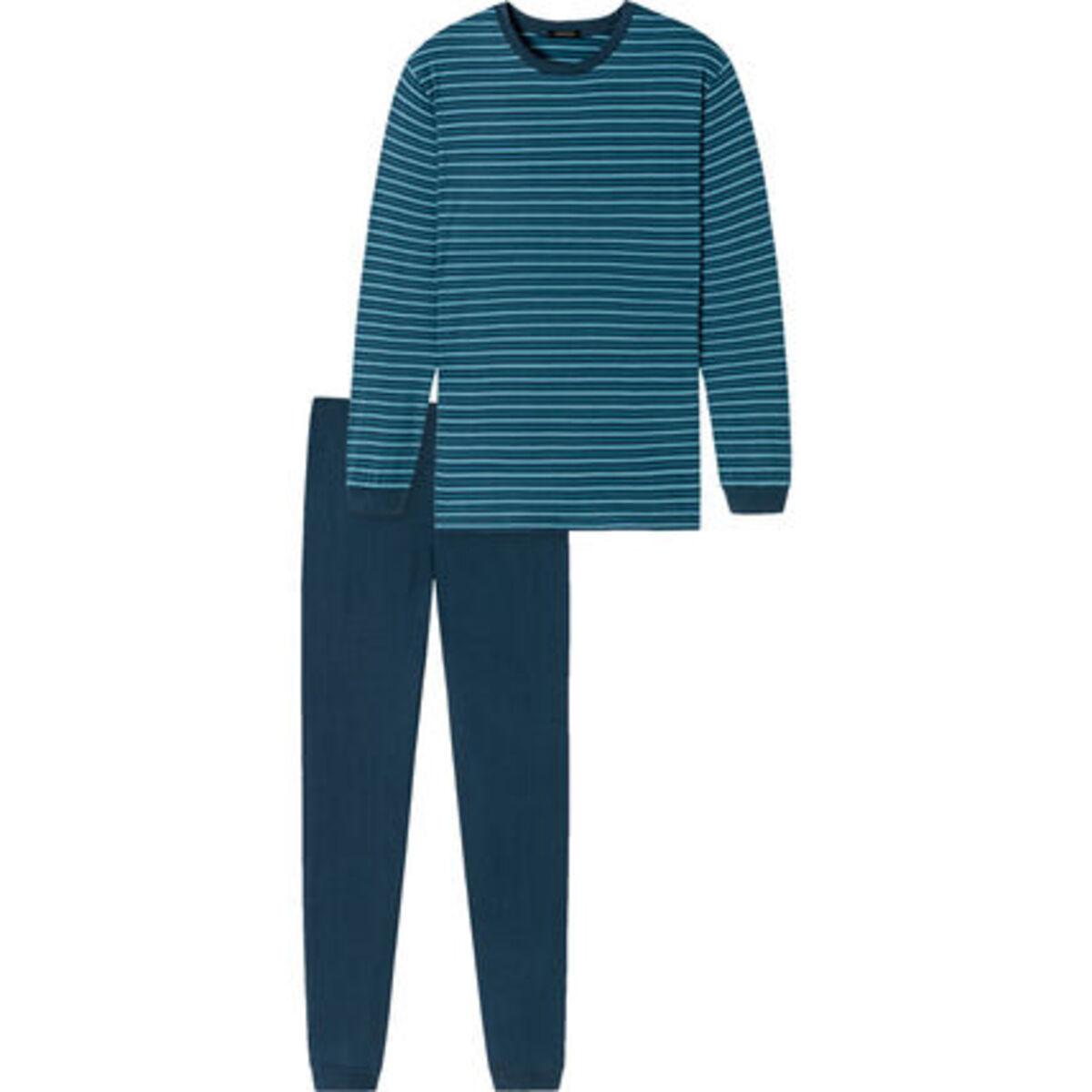 Bild 3 von Schiesser Schlafanzug, Ringelshirt, Baumwolle, für Herren