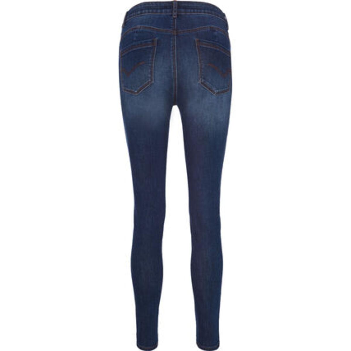 Bild 2 von MANGUUN Jeans, 5-Pocket-Stil, Used-Look, für Damen