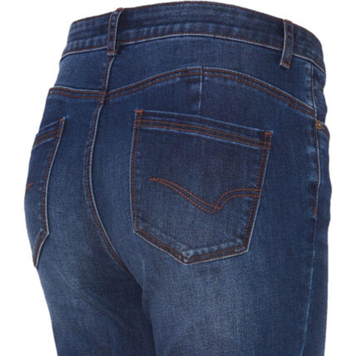 Bild 3 von MANGUUN Jeans, 5-Pocket-Stil, Used-Look, für Damen