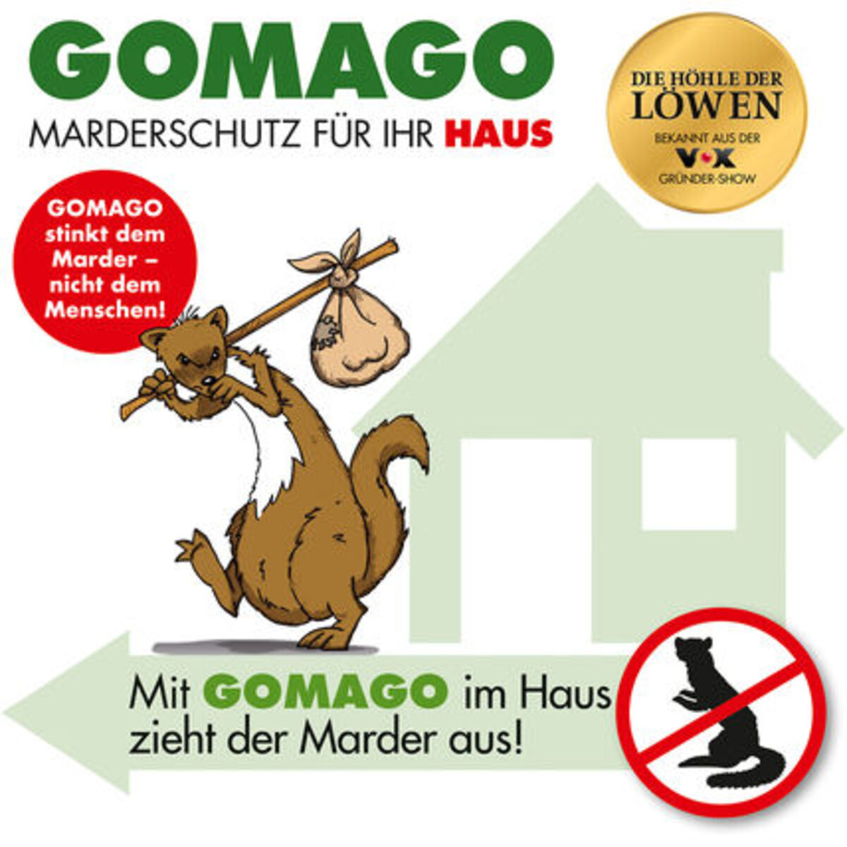 Bild 4 von Gomago Mardervergrämung, Haus, 2er-Set 70 g