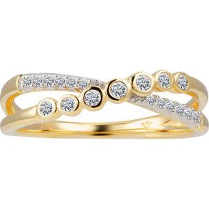 Vandenberg Damen Ring, 375er Gelbgold mit Diamanten