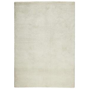 Novel Webteppich 67/140 cm weiß , Garda , Textil , Uni , 67x140 cm , Frisée,Hochflor , für Fußbodenheizung geeignet, in verschiedenen Größen erhältlich, UV-beständig, Fasern thermofixiert (he