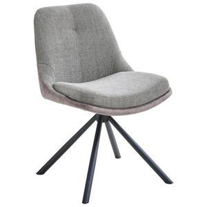 Novel Stuhl schwarz, cappuccino , Wanica , Metall, Textil , 52x83x62 cm , matt, pulverbeschichtet , 000196050401