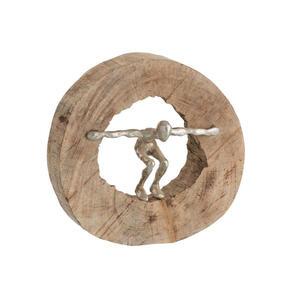 XXXLutz Skulptur , 85142 , Alufarben , Holz, Metall , Mangoholz , Personen , 12x27x28.5 cm , Echtholz , stehend , 003340001901