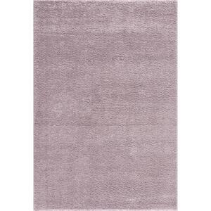 Novel Webteppich 67/140 cm lila , Garda , Textil , Uni , 67x140 cm , Frisée,Hochflor , für Fußbodenheizung geeignet, in verschiedenen Größen erhältlich, UV-beständig, Fasern thermofixiert (hea