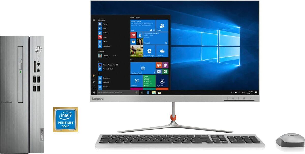 Bild 3 von Lenovo ideacentre 510s-07ICK PC (Intel® Pentium Gold, UHD Graphics 610, 8 GB RAM, 256 GB SSD, inkl. Office-Anwendersoftware Microsoft 365 Single im Wert von 69 Euro)