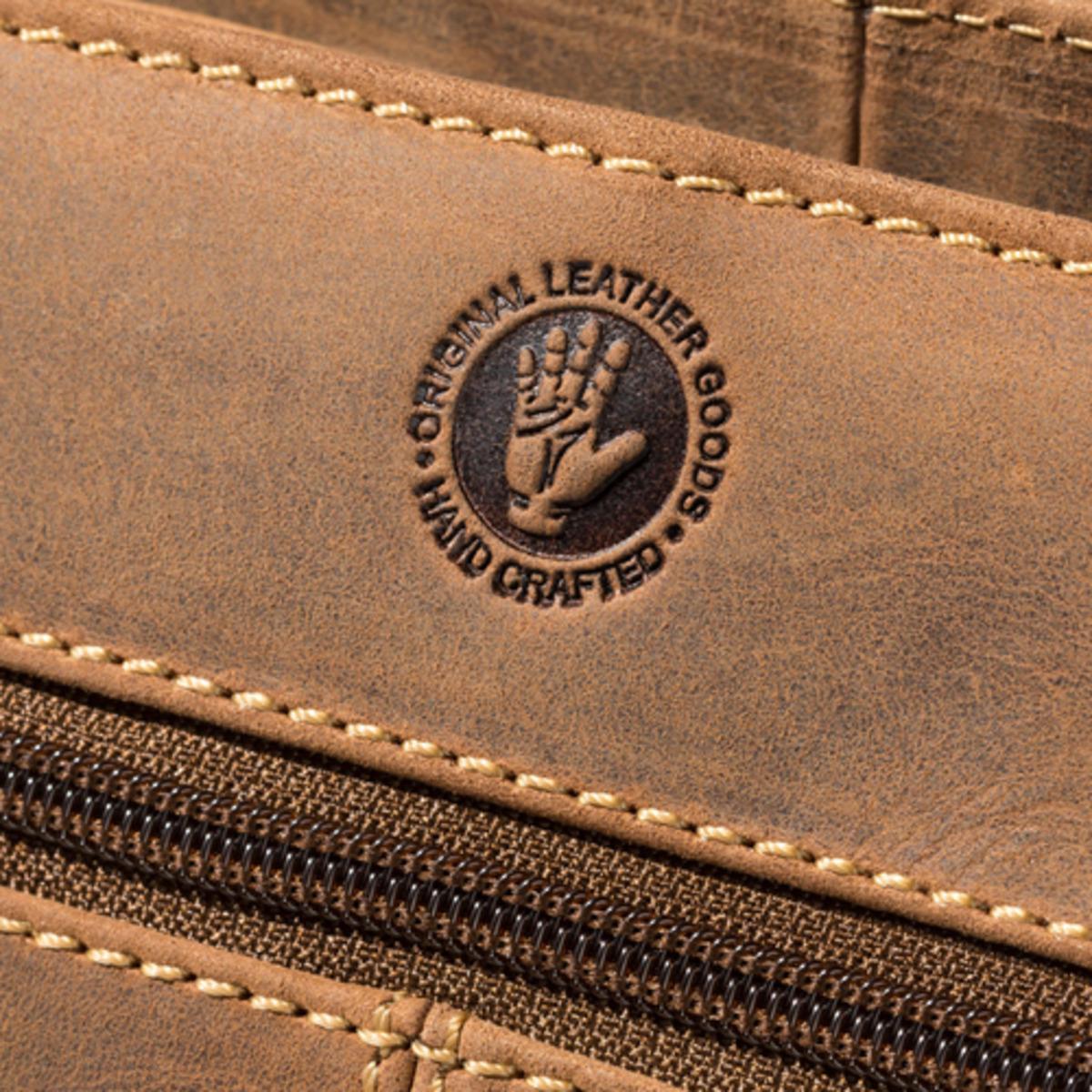 Bild 3 von Spirit Motors Vintage Leder Umhängetasche Big 8 Liter braun